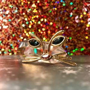 Jewelry - Gold Kitty Face Brooch